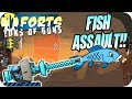 Giant Fish Slapped, Fish Off - Forts Multiplayer Gameplay