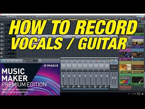 How to Record Guitar Violin & Vocals using Magix Music Studio PC home studio