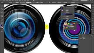 Tutorial Illustrator - Vectorizar lente de cámara 2/3