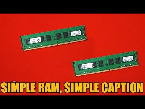 Kingston Value DDR4 RAM 60 Second Break Down