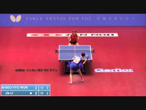 2014 world table tennis championship seo hyo won vs li - Table tennis world championship 2014 ...