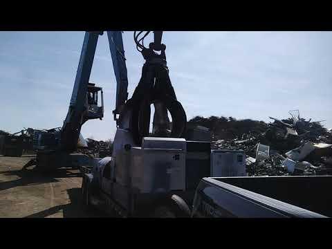 Unloading My Trailer At The Scrap Yard In Kearney, NE