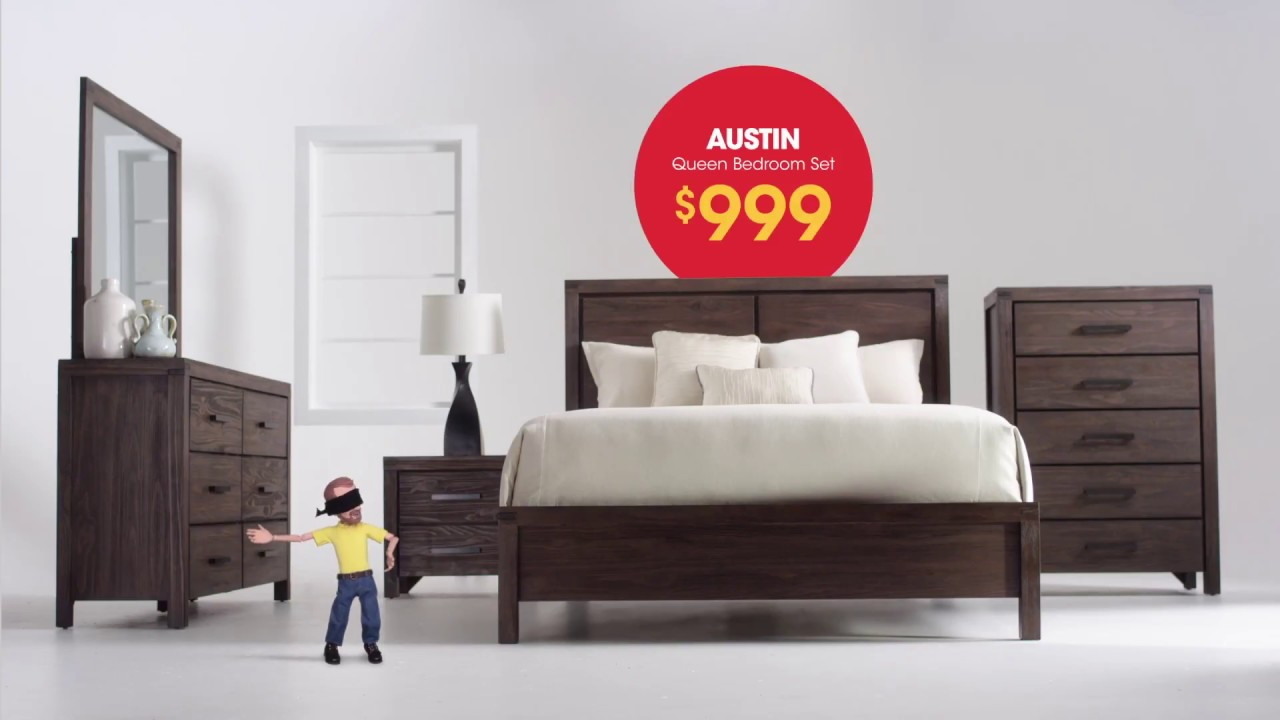 You Can 39 T Miss The Value On Bob 39 S Discount Furniture Austin Bedroom Set Youtube