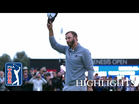 Highlights | Dustin Johnson cruises to victory at the Genesis Open