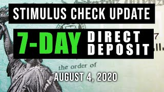 Second Stimulus Check and Stimulus Package Update (7 DAY DIRECT DEPOSIT)