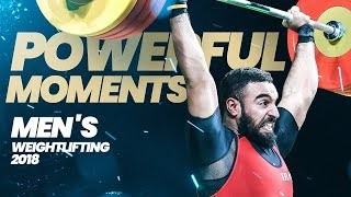 Men Weightlifting's Powerful Moments 2018