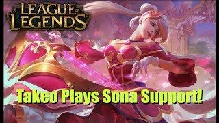 LoL League of Legends Sweetheart Sona Support! (Facecam!)