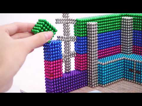 Magnetic Balls HOUSE HACK AND CRAFT - How To Build Miniature Home Decor With Magnetic Balls Game