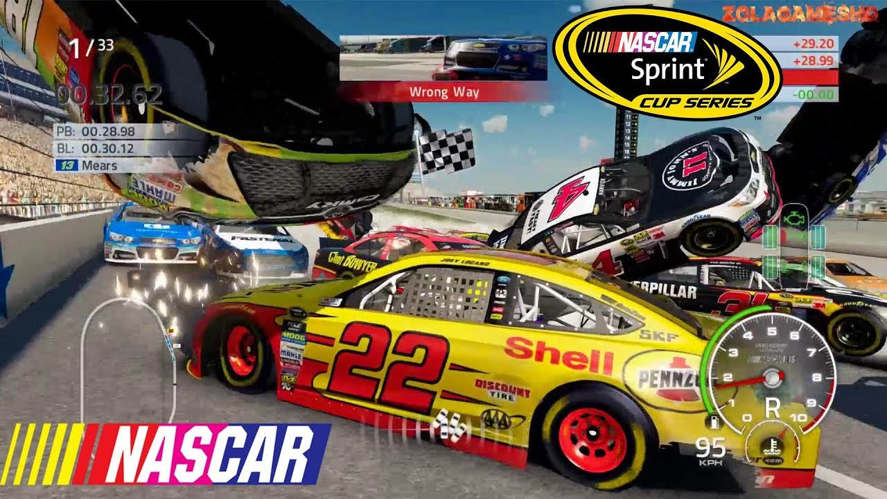 Best Nascar'15 The Game Crashes of 2017 - YouTube