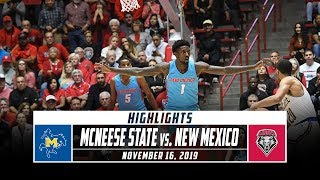 McNeese State vs. New Mexico Basketball Highlights (2019-20) | Stadium