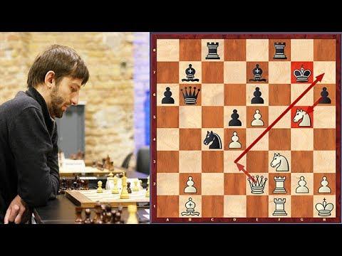 Grischuk vs. Caruana: Grischuk Sacrifices Both Knights