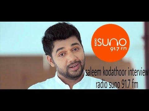 Saleem kodathoor in radio suno studio| 91.7 FM|qatar programme
