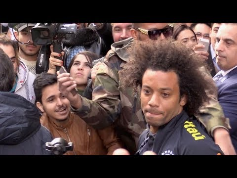 EXCLUSIVE: Neymar Jr and Brazilian football team in Paris