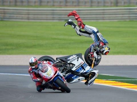 Highside crash MOTOGP big screen Indy 2014 - YouTube