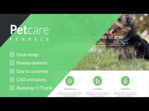 Pet Care Dog Kennels HTML | Themeforest Website Templates And Themes