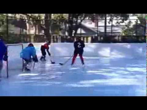 Worlds Largest Backyard Synthetic Ice Rink By SmartRink Synthetic Ice