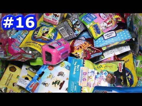 Random Blind Bag Box Episode #16 - Minecraft, Spongebob, Shopkins, Lion Guard, Disney Mystery Minis