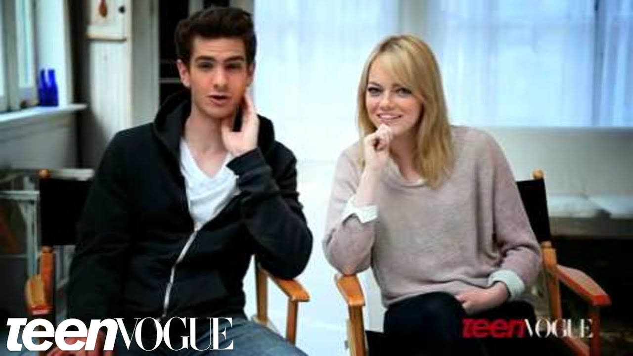 Emma Stone And Andrew Garfield On Set At Their Teen Vogue
