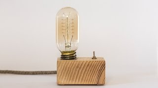 wood lamp: how to make a vintage lamp (edison lamp)