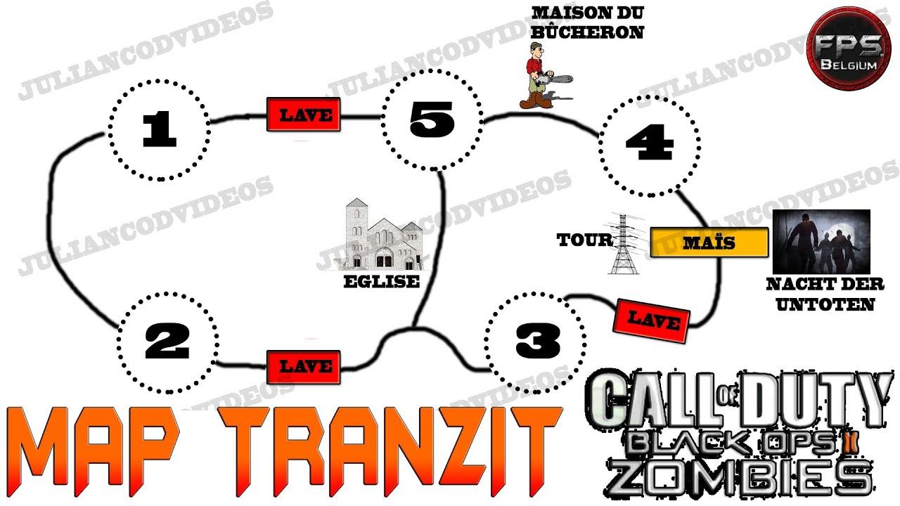Carte Black Ops 2 Zombie.Map Tranzit Zombie Black Ops 2 Les Endroits Secrets