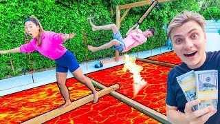 $10,000 THE FLOOR IS LAVA CHALLENGE!! Video