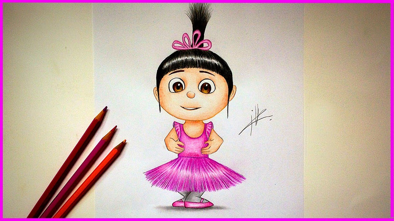 Drawing Agnes from Despicable me - YouTube