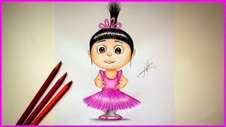 Drawing Agnes from Despicable me