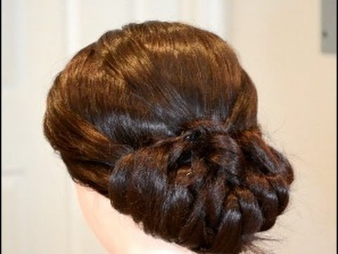 Classic Bridal Updo Hairstyle : Voluminous bride or prom updo classic bridal quick and easy
