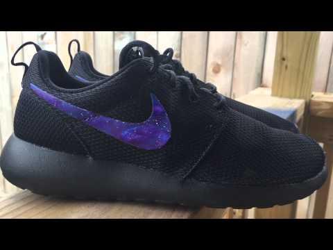 Chip Consciente frontera  Nike Roshe Run Galaxy Swoosh Custom - YouTube
