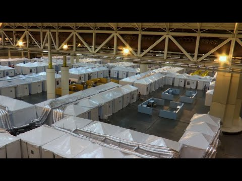 Medical support facility prepared in New Orleans