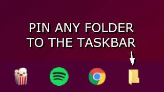 Windows 10: Pin any Folder to the Taskbar