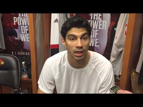 MBB: Anas Mahmoud Nebraska-Omaha Postgame Interview