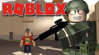 Roblox - CONSTRUINDO MINHA BASE MILITAR ( Military Warfare Tycoon )