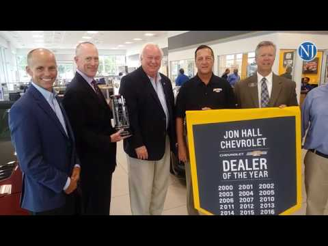 jon hall chevrolet owner/president glenn ritchey sr. is presented