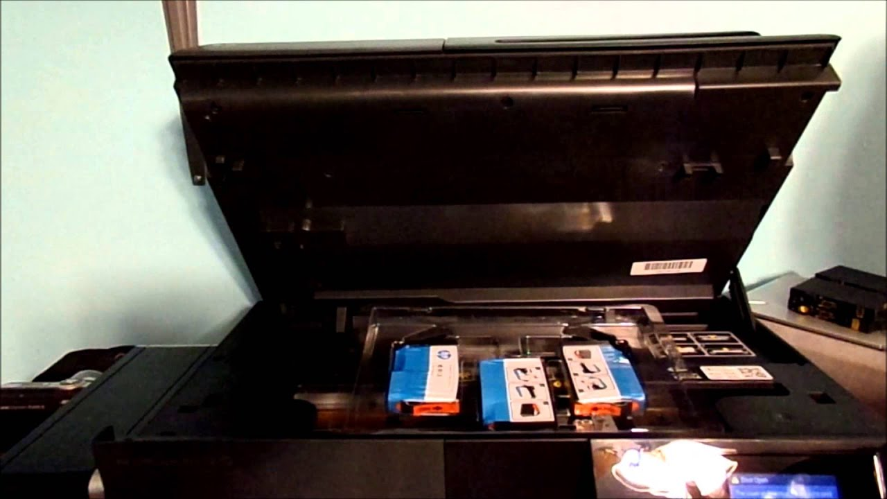 משהו רציני HOW TO CHANGE YOUR INK IN YOUR HP OFFICEJET PRO 6830 PRINTER - YouTube LS-21