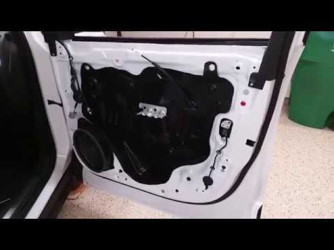 2018 To 2022 GM Chevrolet Equinox - Metal Door Frame - Plastic Door Panel Removed To Upgrade Speaker