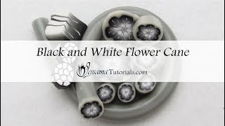 Polymer Clay Cane: Black & White Flower Cane Tutorial