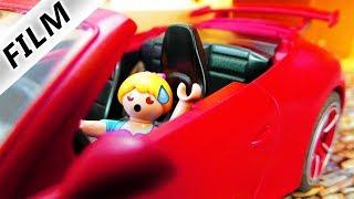 Playmobil Film Deutsch HANNAH WILL FÜHRERSCHEIN MACHEN! KIND FÄHRT PORSCHE = UNFALL - Familie Vogel