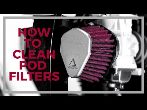 How to clean your pod filters.