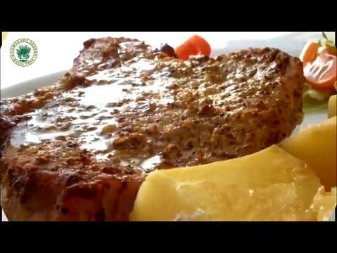 Ужин на пятерку: пряная корейка на косточке с горчицей