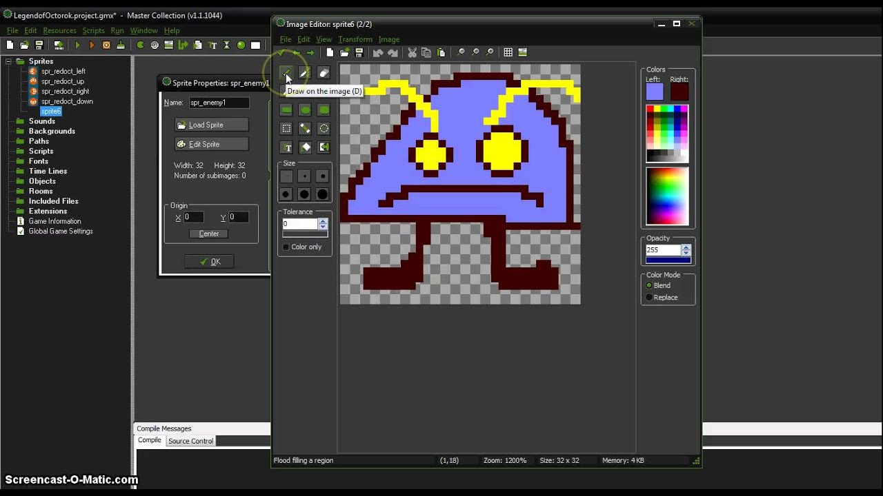 how to draw your own sprites in gamemaker