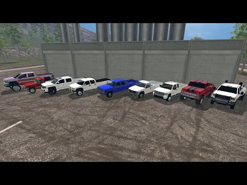 Farming Simulator 2015 Mods- A Lot of Trucks (Chevy/GMC Only) - YouTube