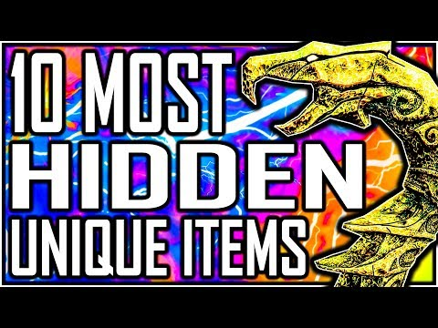 SKYRIM - 10 Most HIDDEN Unique Items thumbnail
