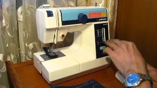 Sewing machine Швейная машина Mini Jaguar 281 test КОЖА