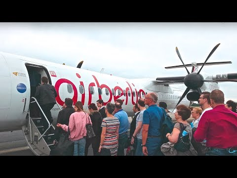 AIR BERLIN | DASH 8 Q-400 in Economy Class (4K)