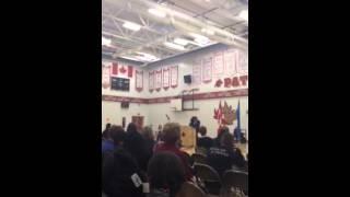 Calgary Mayor in Lester B Pearson high school 2013
