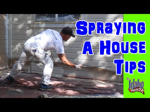 How To Spray A House With A Paint Sprayer.  House Painting Instructions.   home improvement painting