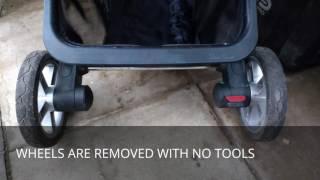 Silver Cross Surf/ Pioneer/ Wayfarer clicking ticking noise on rear wheel fix