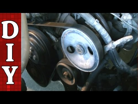 How to Remove and Replace a Serpentine Belt and Tensioner  Dodge Dakota 25L Engine  YouTube