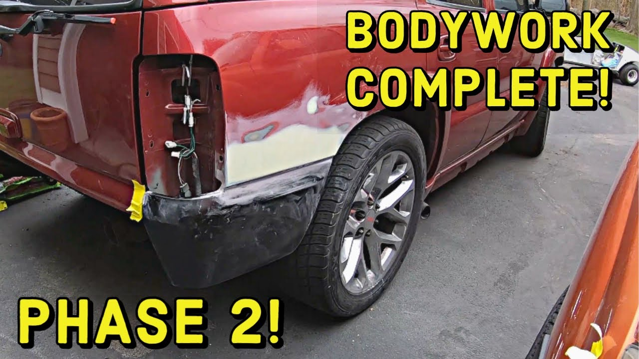 Quarter Panel Replacement Chevy Tahoe Part 2 Youtube